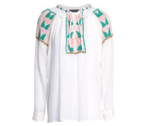 Embroidered Cotton Tunic White
