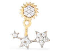 Gold-plated crystal earring