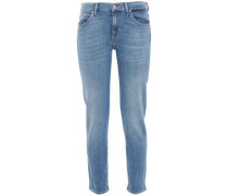 Woman Roxanne Low-rise Slim-leg Jeans Mid Denim