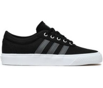 Adi-ease Leather-trimmed Canvas Sneakers Black