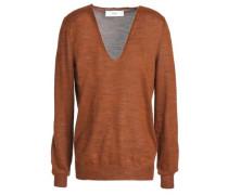Hanko mélange stretch-knit sweater