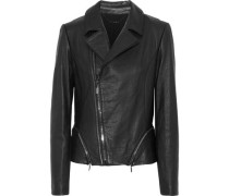 Emalia leather biker jacket