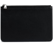 Perforated leather pouch