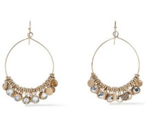 Burnished Gold-tone Crystal Earrings Gold Size --