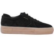 Suede Platform Sneakers Black