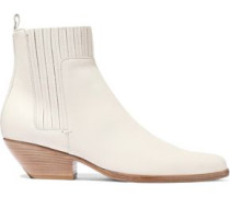 Eckland Leather Ankle Boots Ecru