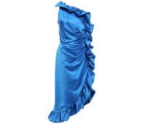 One-shoulder Ruffled Duchesse-satin Dress