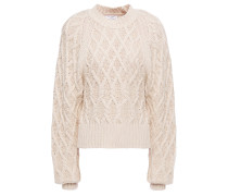 Woman Roesia Cable-knit Cotton Sweater Ecru