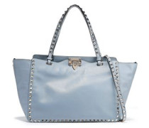 Rockstud Leather Shoulder Bag Sky Blue Size --