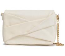Pleated Pebbled-leather Shoulder Bag Ivory Size --
