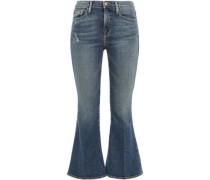 Beckett Distressed Mid-rise Kick-flare Jeans Mid Denim  4