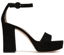 Woman Coco Suede Platform Sandals Black
