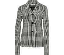 Checked Wool-blend Blazer Gray
