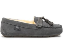 Tasseled Suede Loafers Anthracite