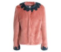 Faux Fur Jacket Blush