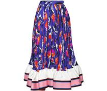 Printed silk-georgette midi dress