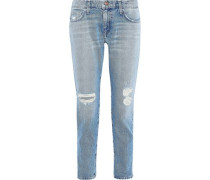 The Fling Distressed Boyfriend Jeans Light Denim  3
