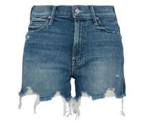 Distressed Denim Shorts Light Denim  4
