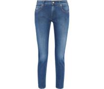 Mid-rise slim-leg jeans