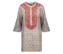 Jasmine bead-embellished printed cotton-gauze tunic