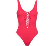 Lace-up Swimsuit Papaya