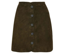 Woman Ginger Suede Mini Skirt Army Green