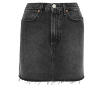 Moss Frayed Denim Mini Skirt Charcoal  3