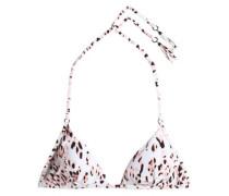 Xanzia printed triangle bikini top