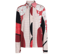 Printed silk-blend shirt