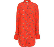 Crepe De Chine Shirt Tomato Red