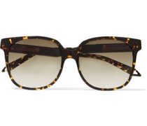 Refined Classic Square-frame Tortoiseshell Acetate Sunglasses Dark Brown Size --