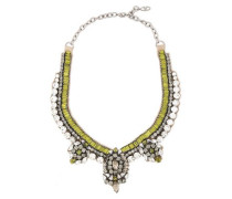 Gunmetal-tone Crystal And Satin Necklace Lime Green Size --
