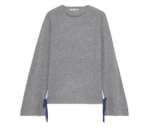 Bow-detailed Cashmere Sweater Gray