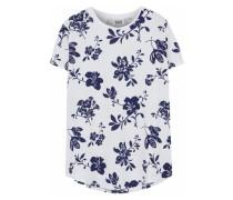 Floral-print cotton-jersey pajama top