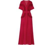 Isa ruffled chiffon maxi dress