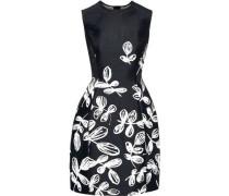 Woman Floral-jacquard Mini Dress Black