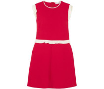 Woman Ruffle-trimmed Crepe Mini Dress Red