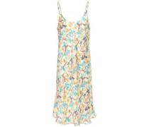 Woman Chain-trimmed Floral-print Satin Slip Dress Cream