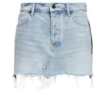Frayed Denim Mini Skirt Light Denim  6