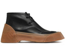 Lela Leather Ankle Boots Black