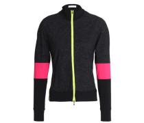 Mélange tech-jersey jacket