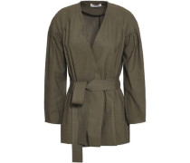 Kendrick Belted Linen-blend Jacket Army Green Size 0