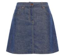 Flared Denim Mini Skirt Mid Denim