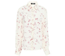 Printed Silk Crepe De Chine Shirt Off-white