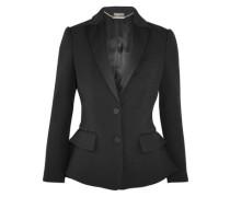 Wool and silk-blend peplum tuxedo blazer