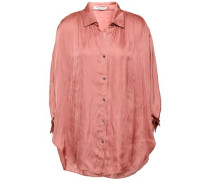 Crinkled-sateen Tunic Antique Rose