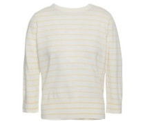 Striped Cashmere Sweater Ivory