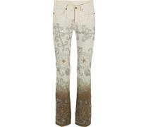Voyage embellished dégradé mid-rise bootcut jeans