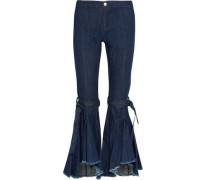 Firm In Her Beliefs frayed high-rise flared jeans