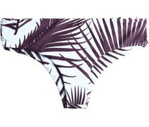 Printed mid-rise bikini briefs